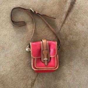 Vintage Dooney & Bourke Red Leather Crossbody